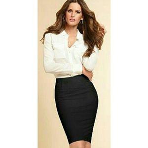 VICTORIA'S SECRET sz 0 Classic Black Pencil Skirt